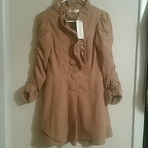 Jackets & Blazers - Nwt-Ruched Pea Coat